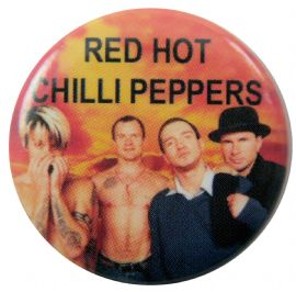 Red Hot Chili Peppers - 'Group Fire' Button Badge